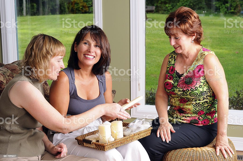 Three Middle Age Women royalty-free stock photo