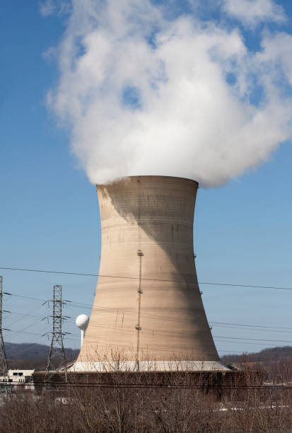 Three Mile Island Nuclear Reactor Tower stock photo