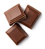 Three milk chocolate pieces