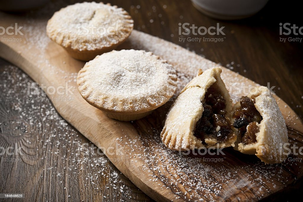 three mince pies. stock photo