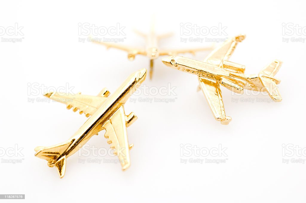 Three Miniature Planes royalty-free stock photo