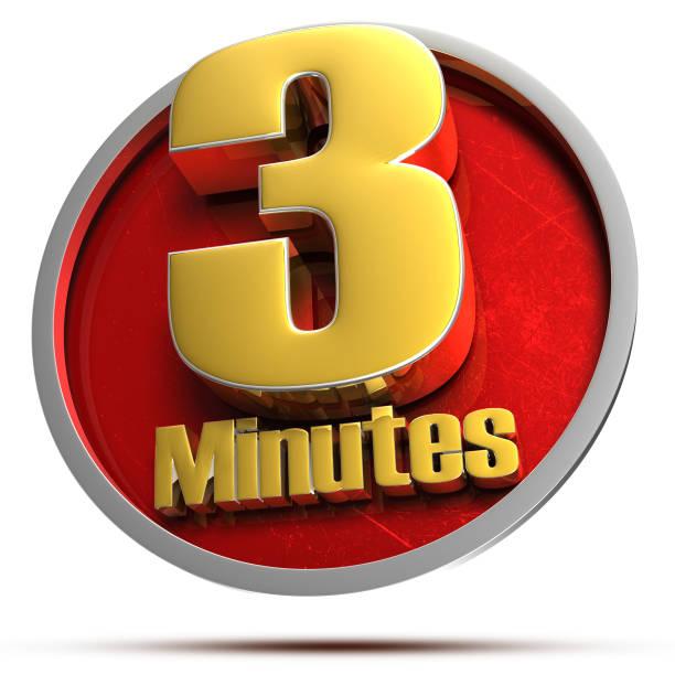 drie minuten 3d. - zandloper icoon stockfoto's en -beelden