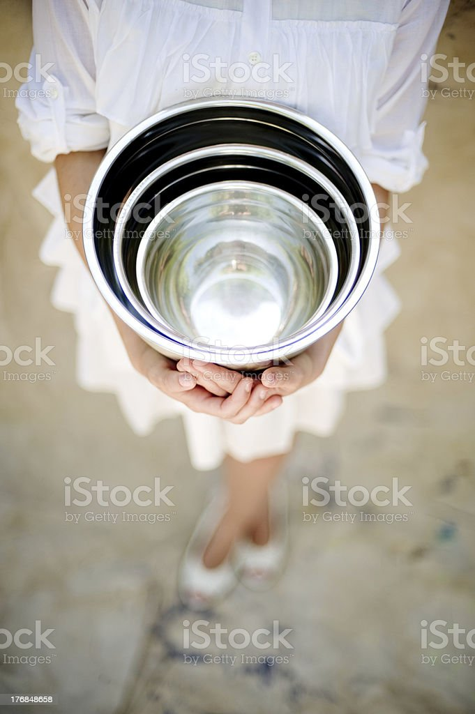 Three Mixing Bowls royalty-free stock photo