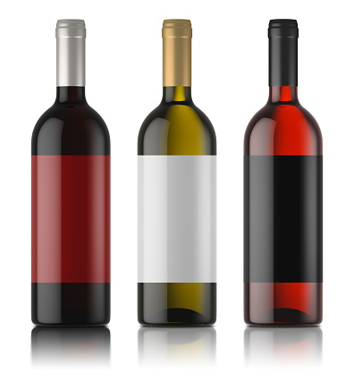 istock three mockups of wine bottles with labels 842141330