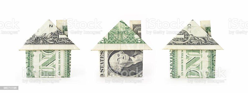 Three Money Houses royalty-free stock photo