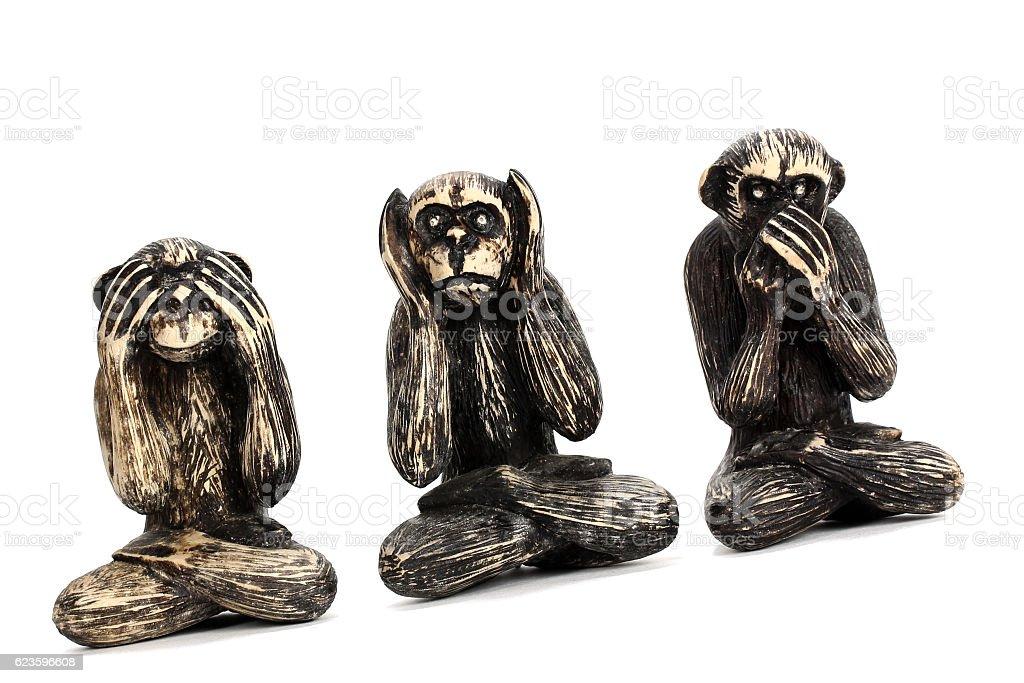 Three Monkeys stock photo