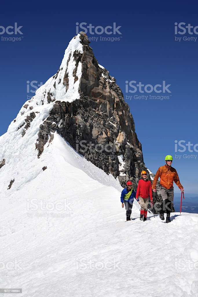 Three Mountaineers royalty-free stock photo