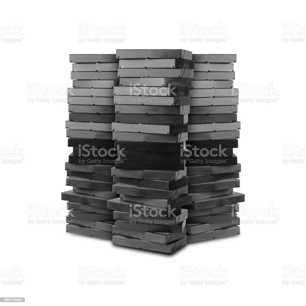 Three mountains from videotapes. Isolated stock photo