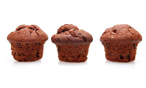 Three muffins stock photo