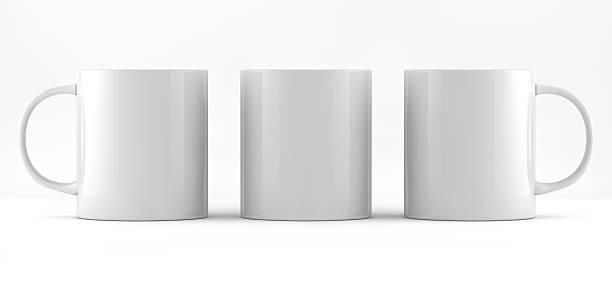 Three Mug Ready For Branding stock photo