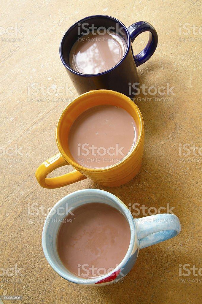 Three mugs royalty-free stock photo