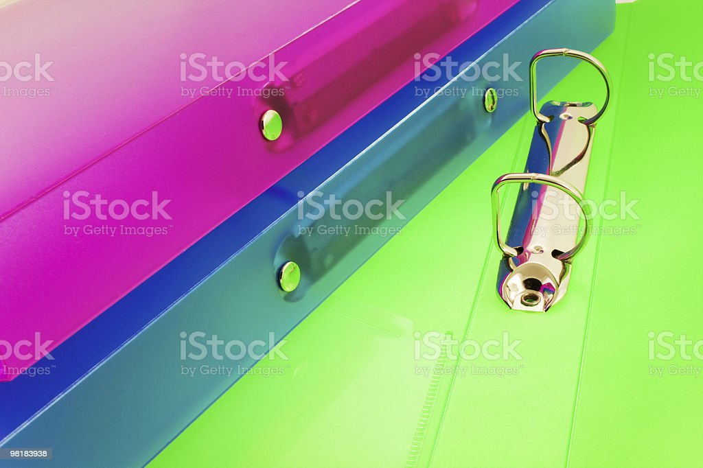 Tre cartelle multicolore foto stock royalty-free