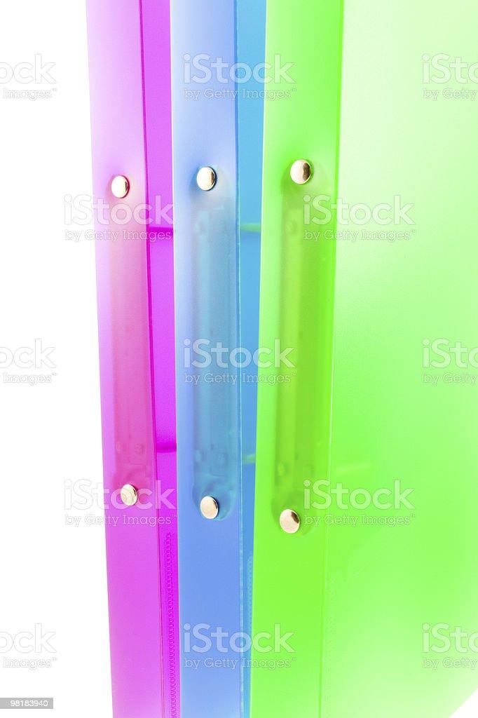 Tre cartelle multicolore foto stock royalty-free