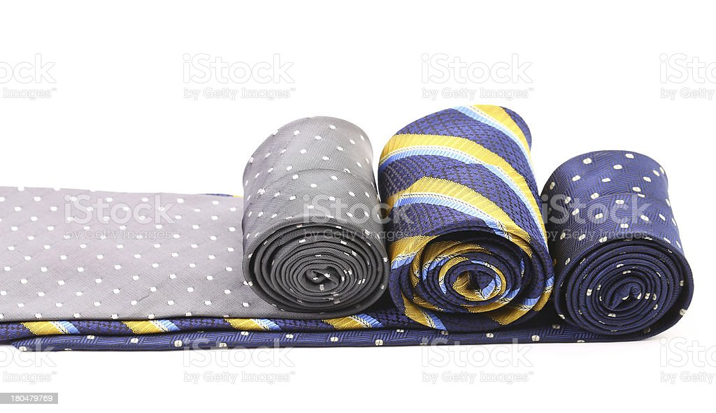 Three multi-colored tie. royalty-free stock photo