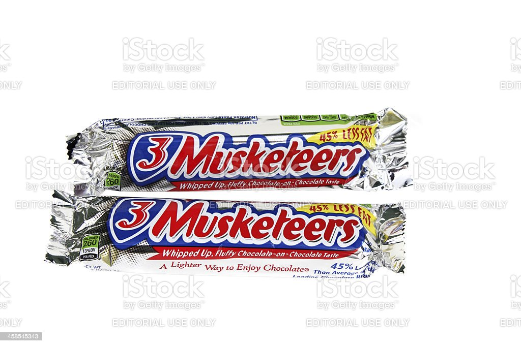 Three Musketeers Candy Bars stock photo