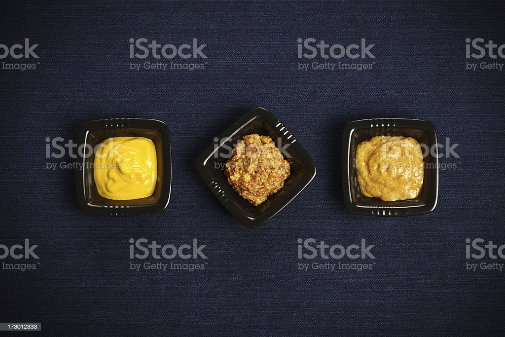 Three mustards royalty-free stock photo