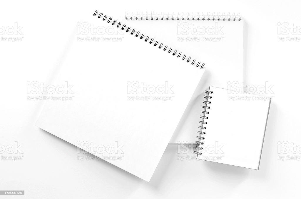 Three Notepads royalty-free stock photo