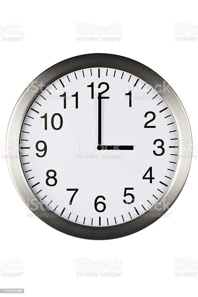 three o'clock royalty-free stock photo