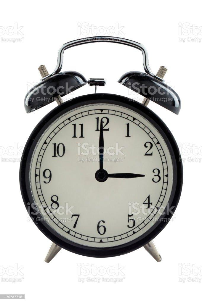 Three o'clock - Stock Image stock photo