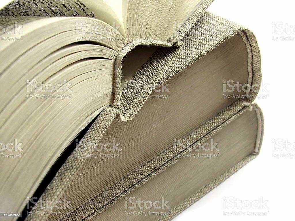 Three old books royalty-free stock photo