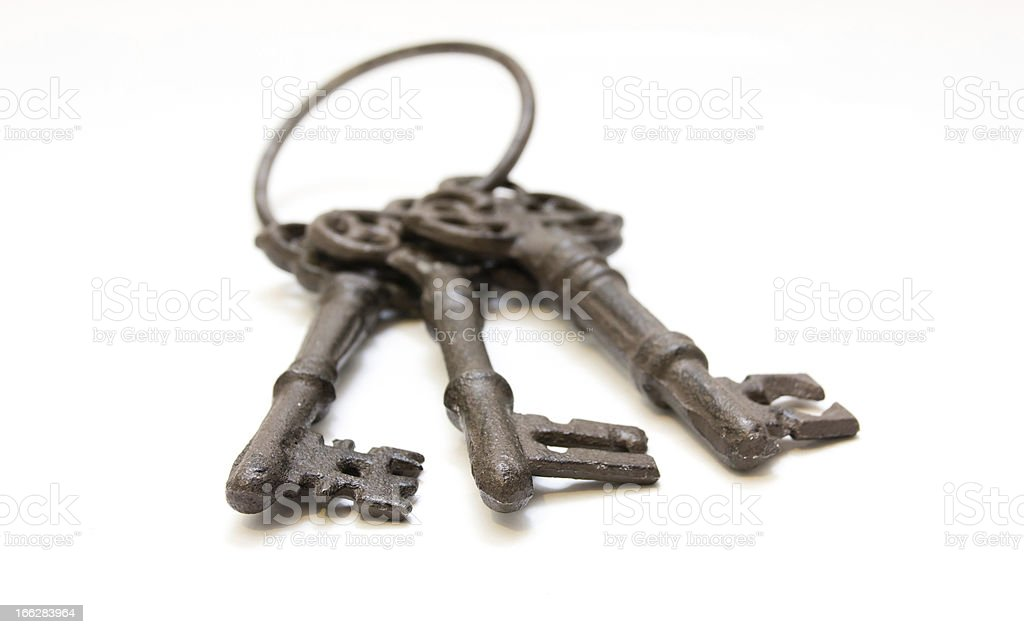 Three old keys royalty-free stock photo