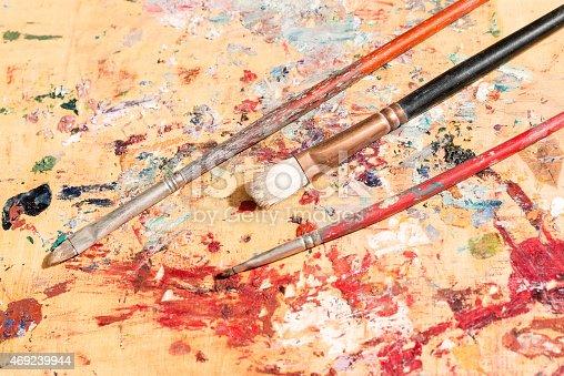 510006691 istock photo three old paintbrushes 469239944