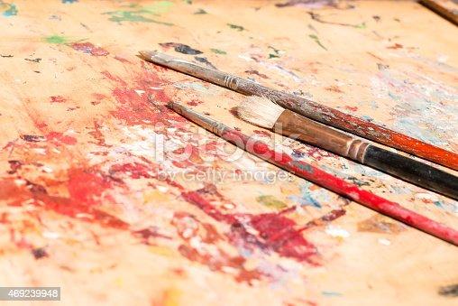 510006691 istock photo three old paintbrushes 469239948