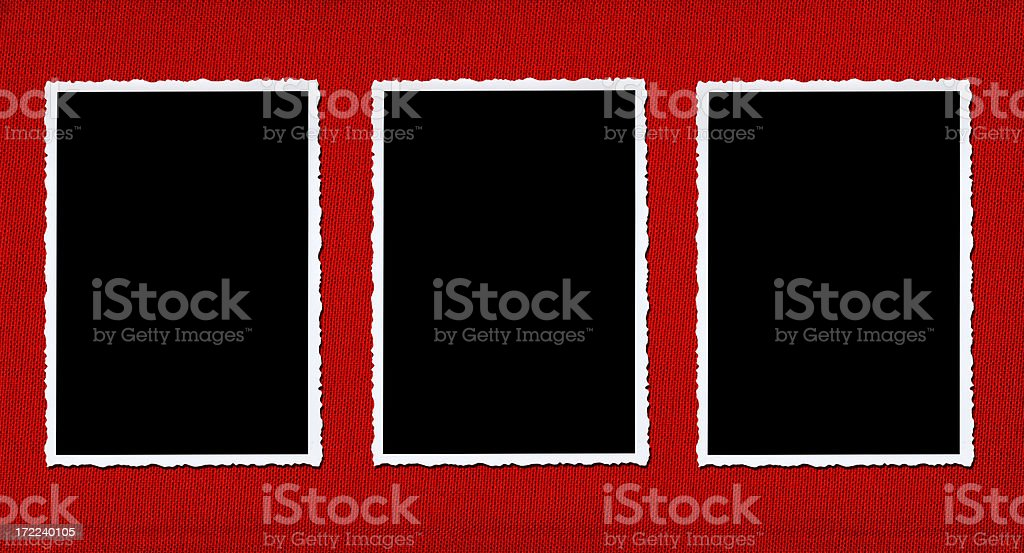 three on red royalty-free stock photo