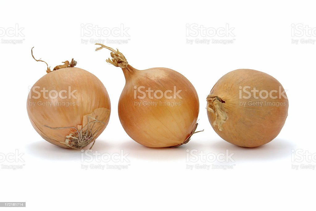 Three onions royalty-free stock photo