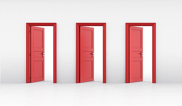 Drei Türen öffnen – Foto