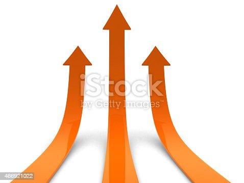istock Three orange arrows going up 466921022