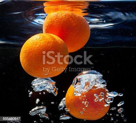 1169153675 istock photo three oranges in water 535490847