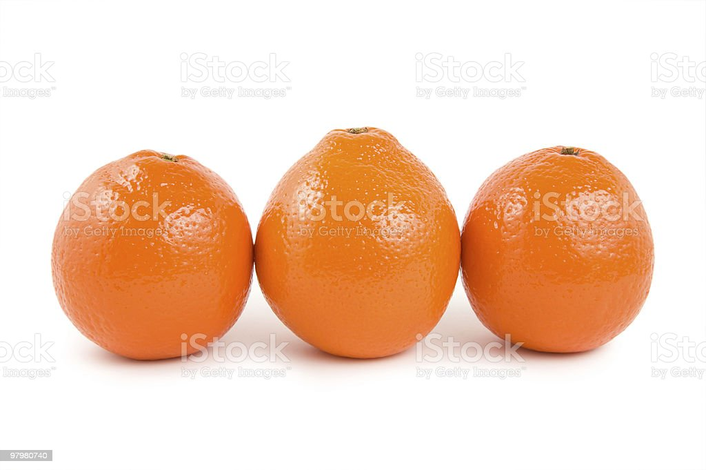 Three oranges royalty-free stock photo