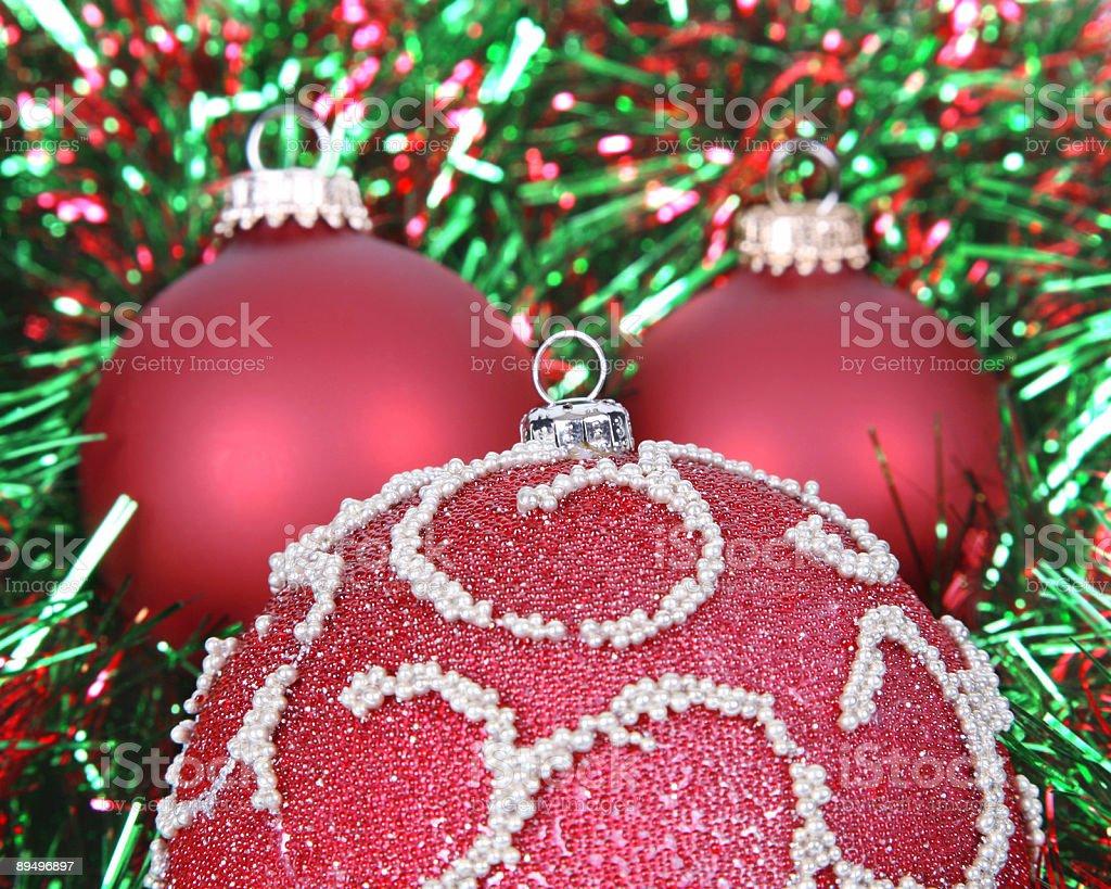three ornaments royaltyfri bildbanksbilder