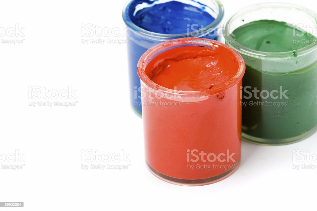 three paints royalty-free stock photo