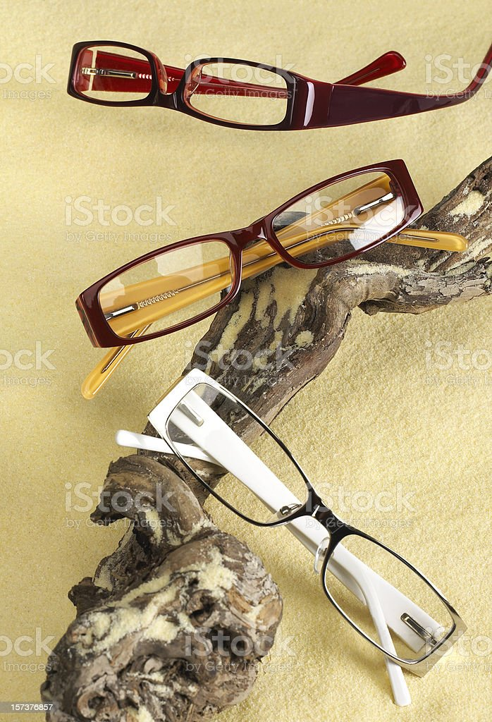 Three pairs of glasses royalty-free stock photo