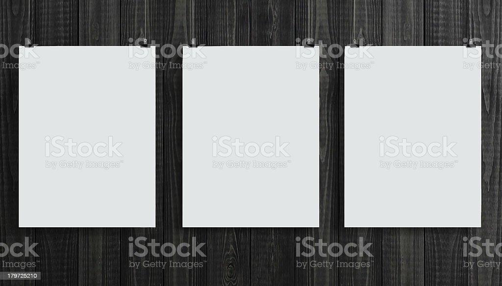 three paper card royalty-free stock photo