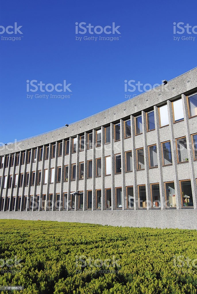 Three part building stock photo