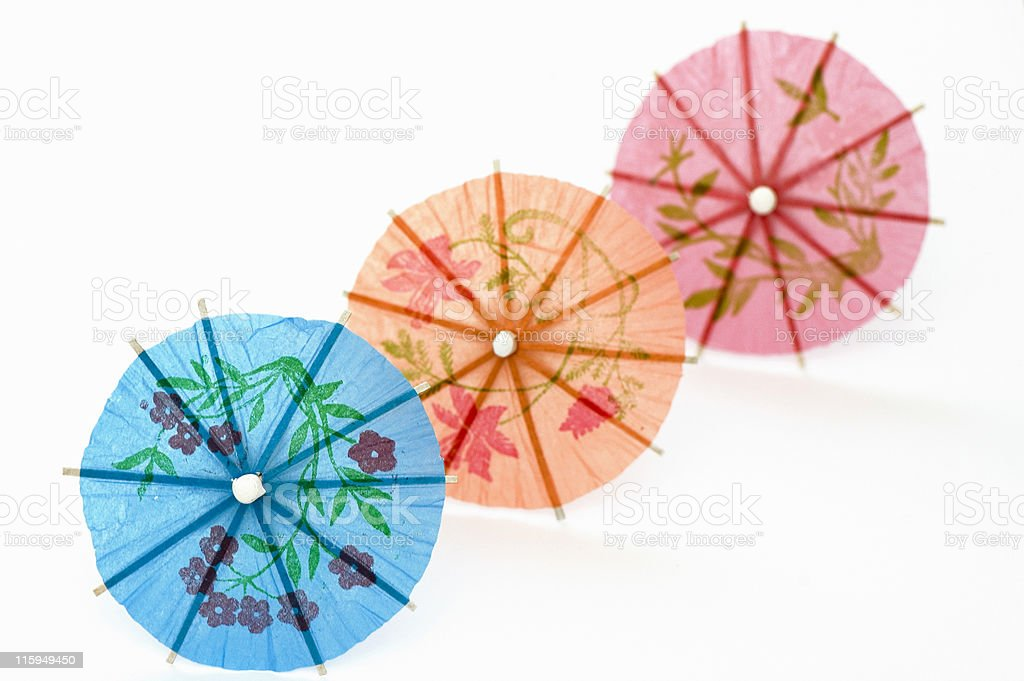 Three Party Umbrellas royalty-free stock photo