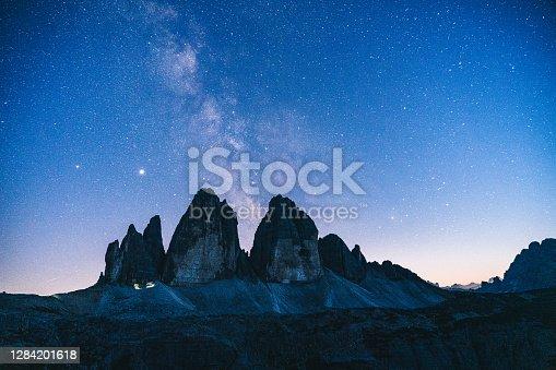 Starry sky above