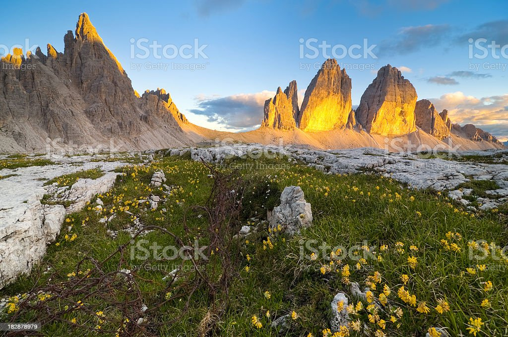 Tre Cime di Lavaredo royalty-free stock photo