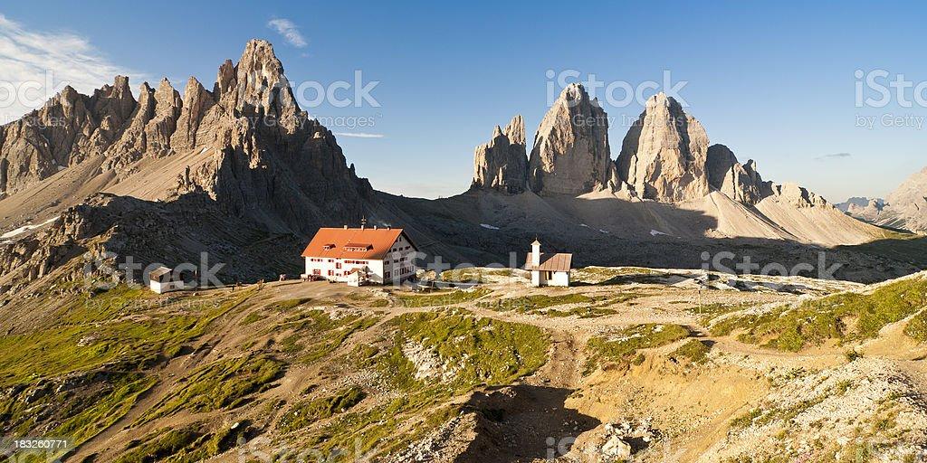 Three Peaks of Lavaredo (right) royalty-free stock photo