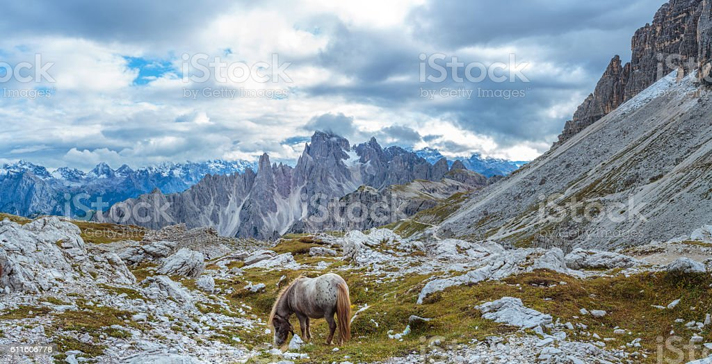 Tre Cime del Lavaredo stock photo