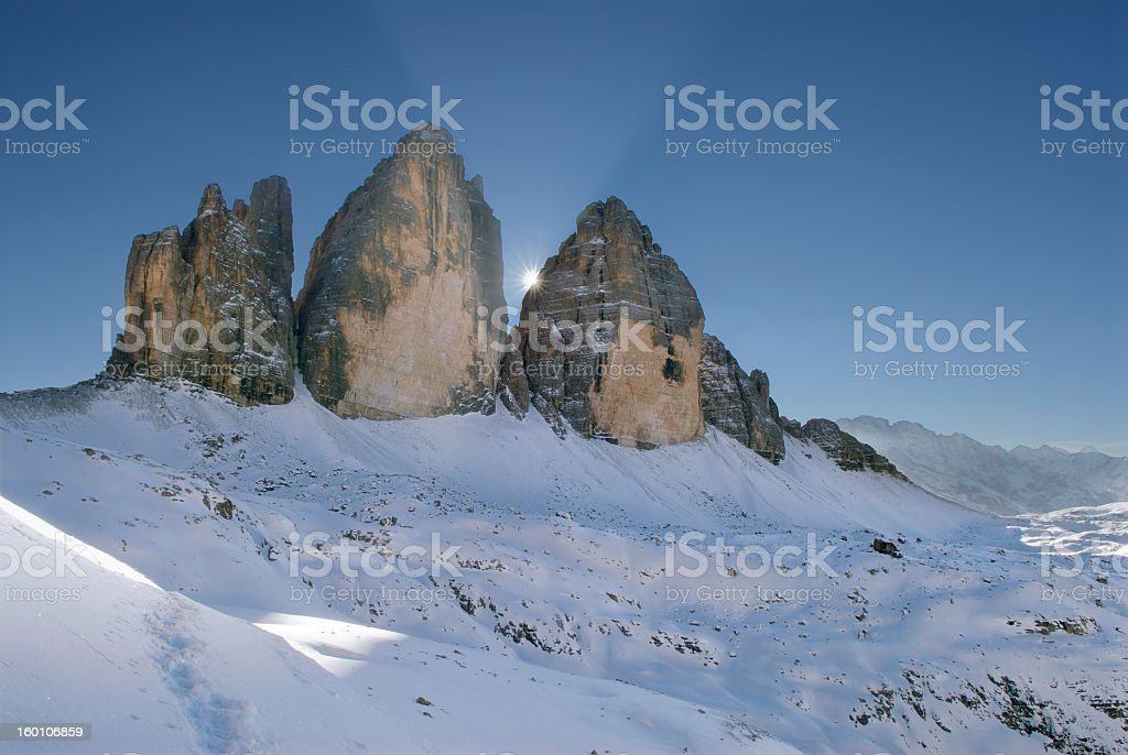 Three Peaks (Tre Cime Di Lavaredo - Dolomites) stock photo