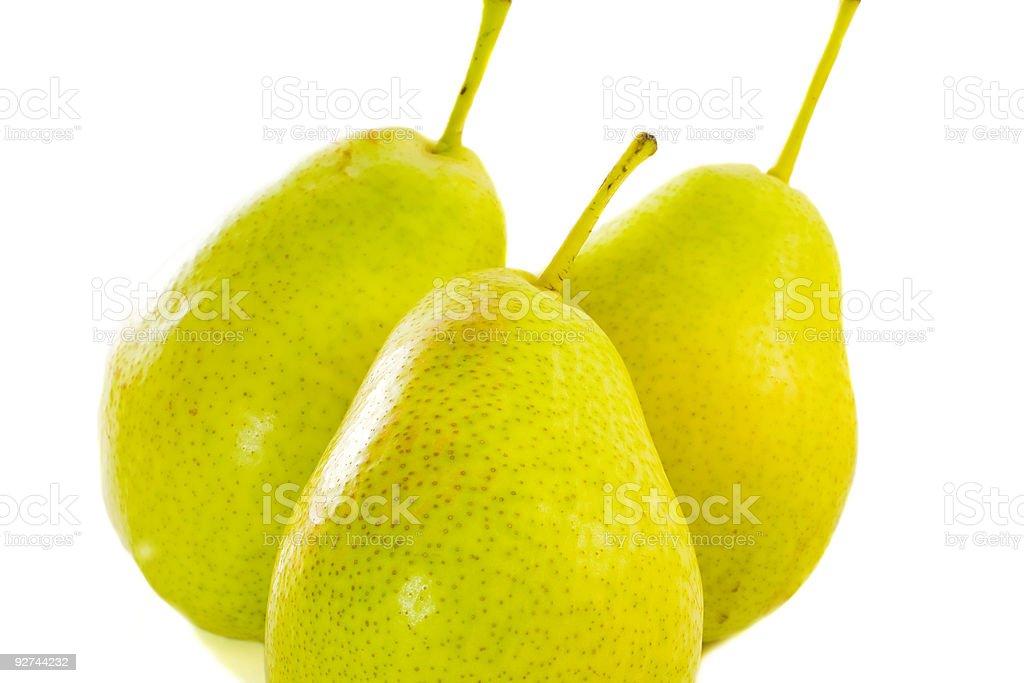 Three pears royalty-free stock photo