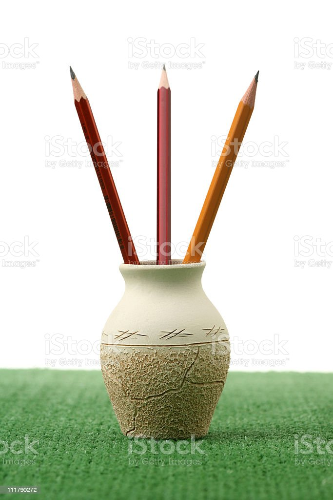 Three pencils royalty-free stock photo
