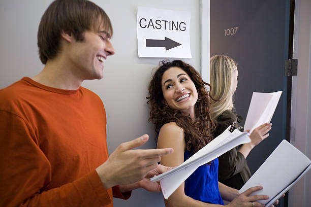 three people at casting call - audition stock photos and pictures