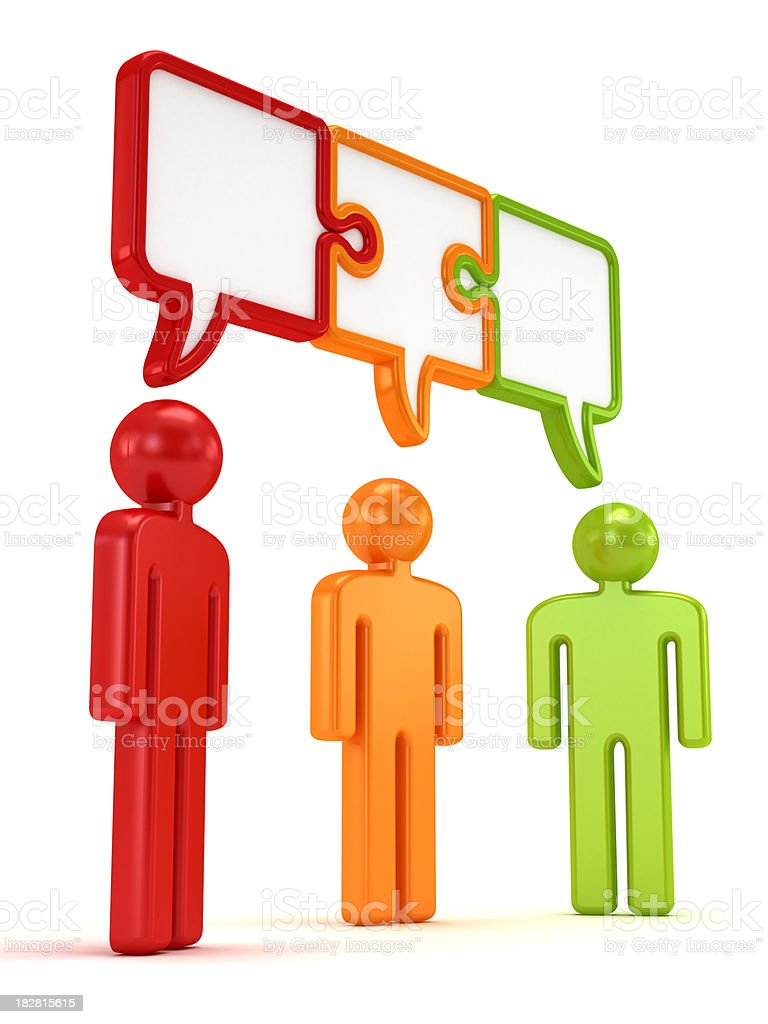 Three people in consensus royalty-free stock photo