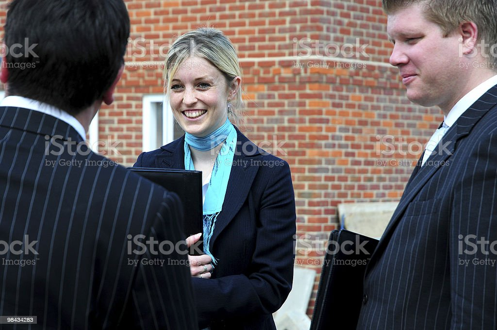 Three people royalty-free stock photo