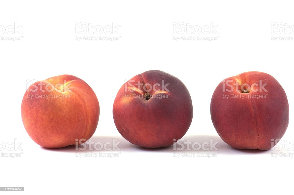 Three Perfect Peaches royalty-free stock photo